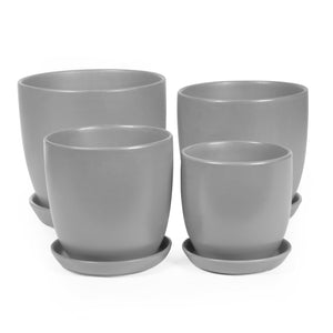 GREY TULIP POT - XS