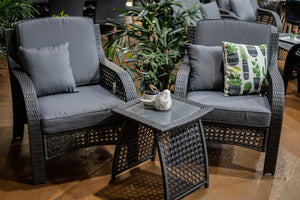 BAY WICKER LOUNGE SET 3 PIECE