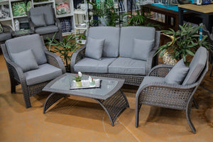 WELLINGTON WICKER 4 PIECE LOUNGE SET