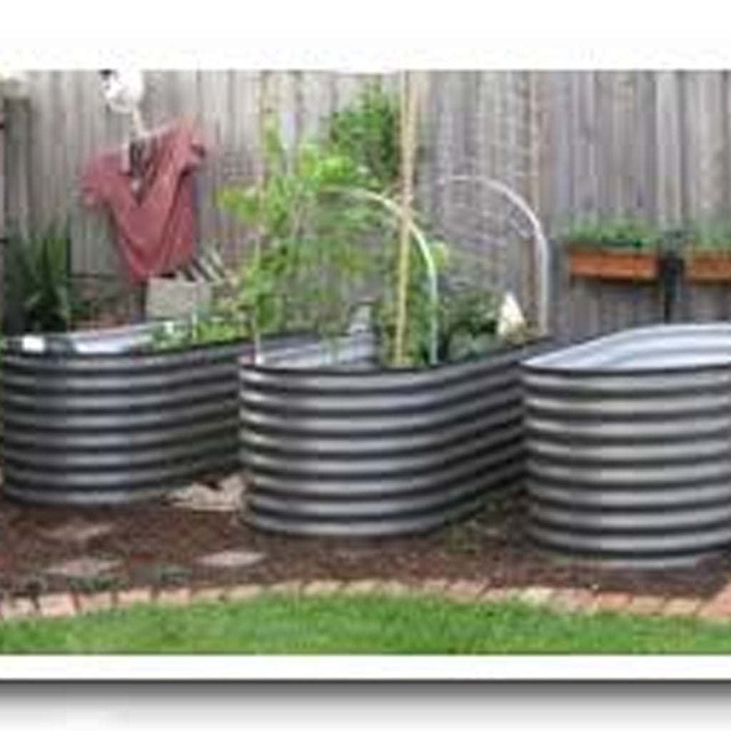 RAISED BED GALVANISED 2.4M L X 950 D X 600 H - REQUIRES 1500LT TO FILL