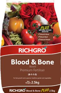 FERTILISER BLOOD AND BONE 2.5KG