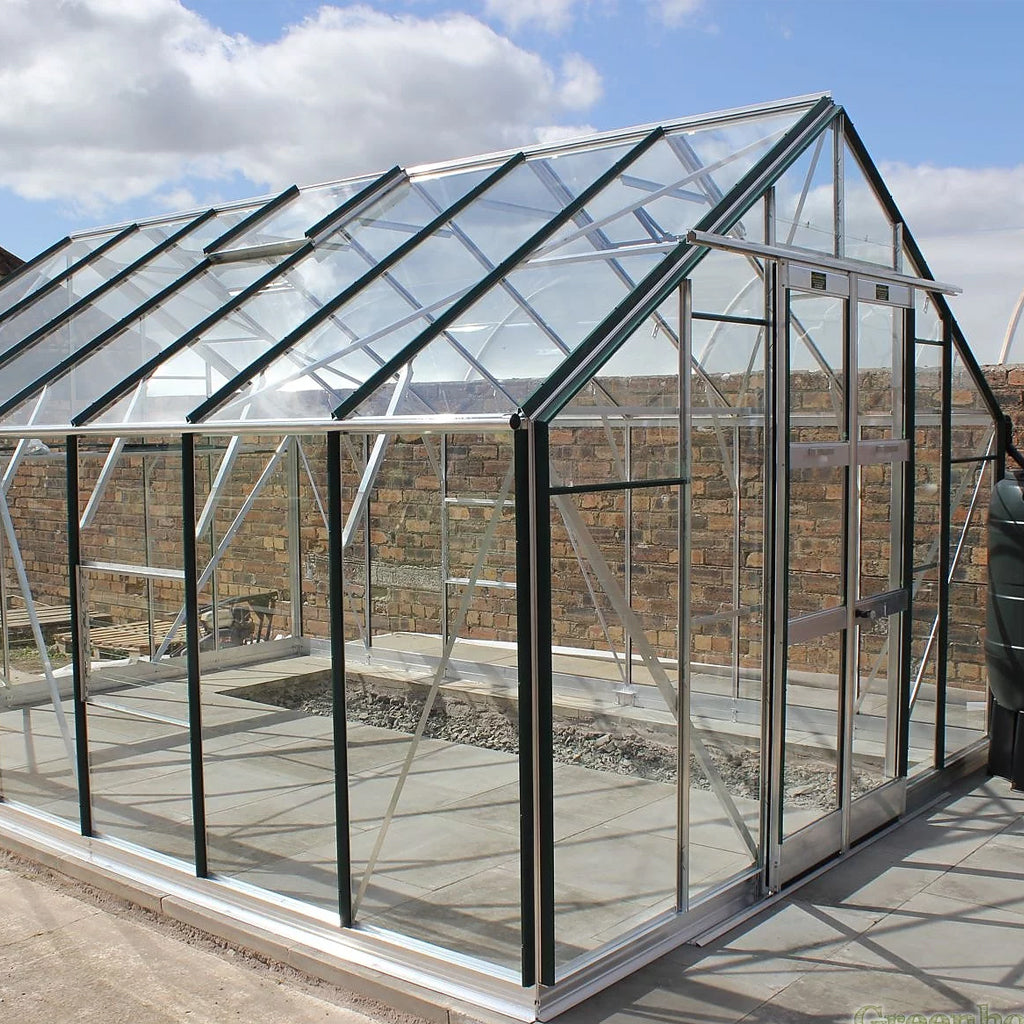 GREENHOUSE ALUMINIUM 10X10 DOUBLE DOOR WITH HIGH WALL