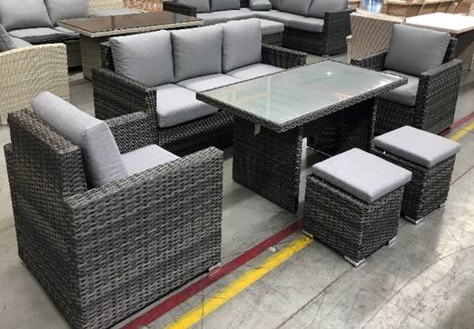 CATALUNYA LOUNGE DINING SET 5 PCE