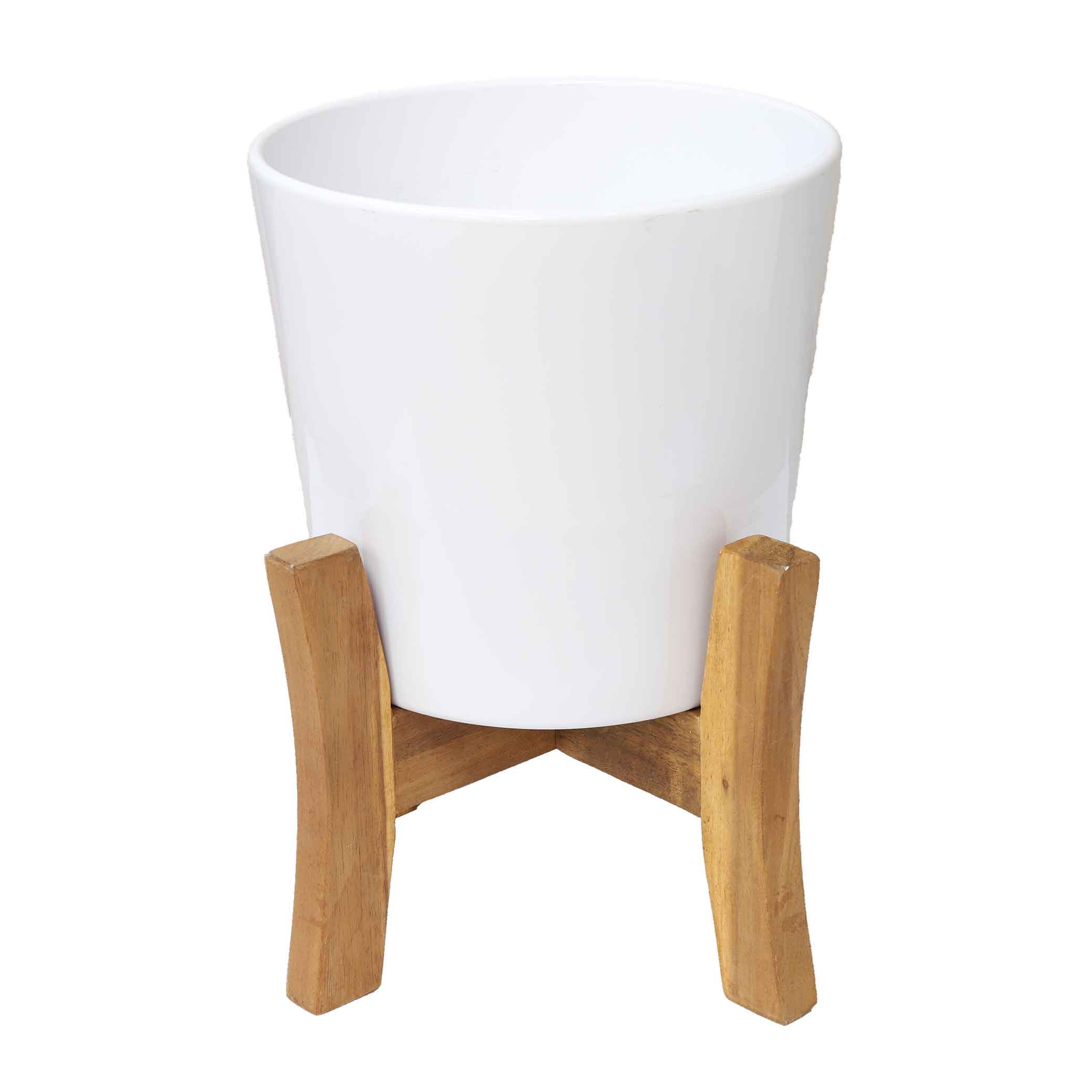 JAYDA PLANTER WITH STAND 21CM WHITE