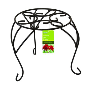 PLANT STAND SINGLE BLACK