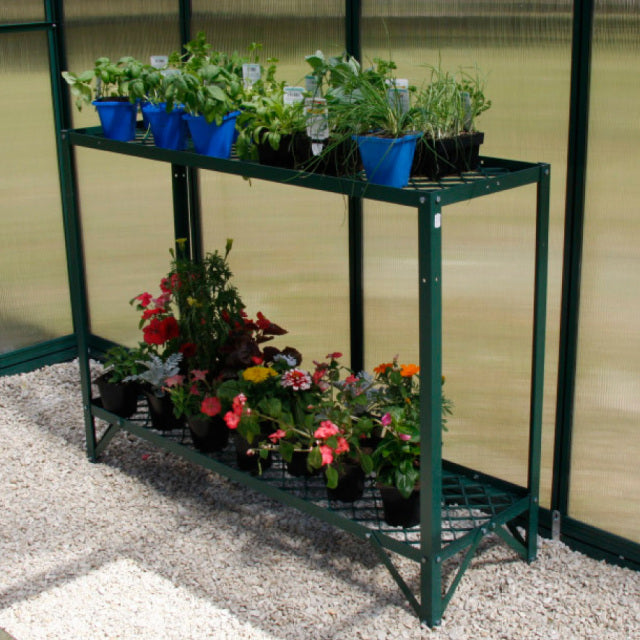 GREENHOUSE BENCH 1200MM - 2 TIER