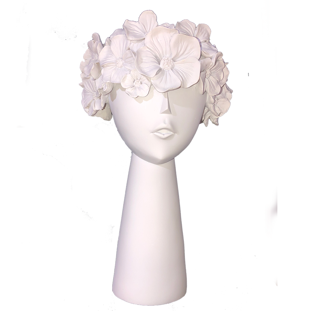 PROTEA PLANTER HEAD - WHITE tall 30cm
