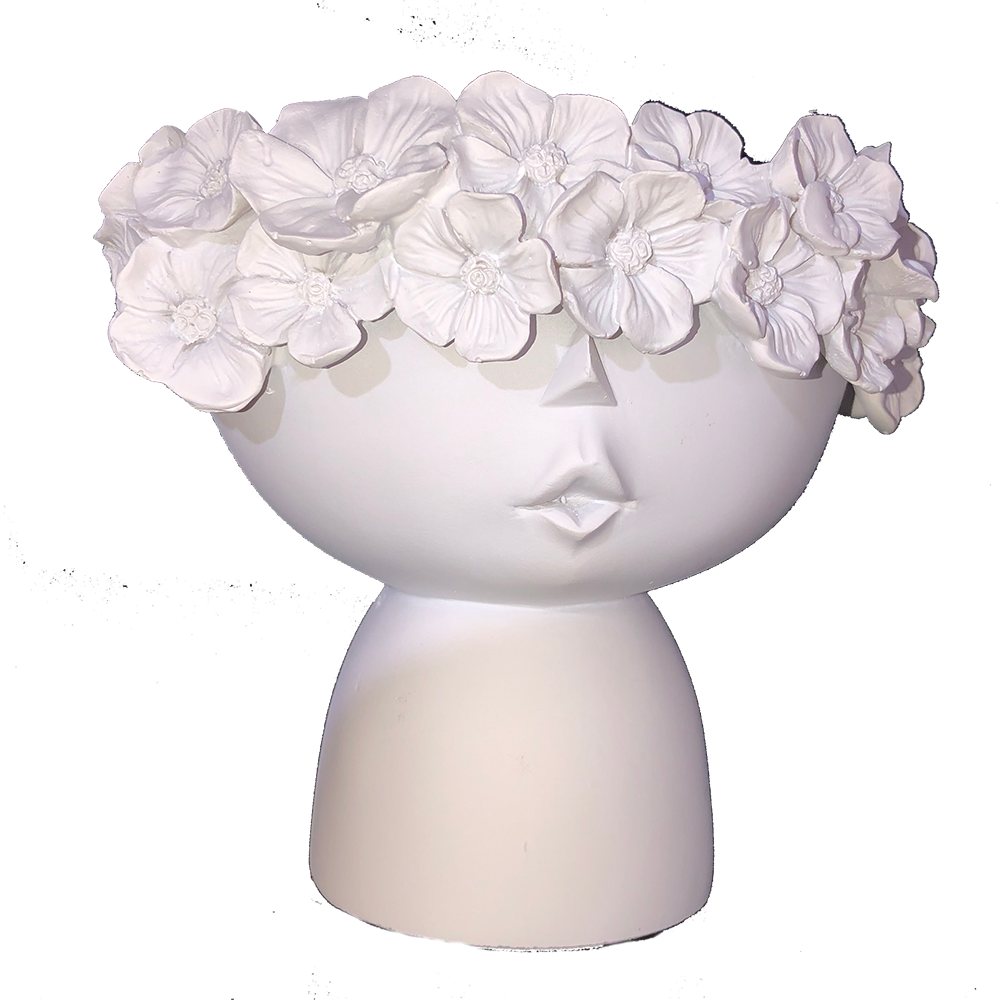 PROTEA PLANTER HEAD - WHITE  14cm