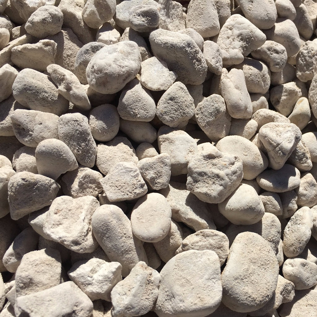 GRAVEL - WHITE PEBBLES 20MM 20KG