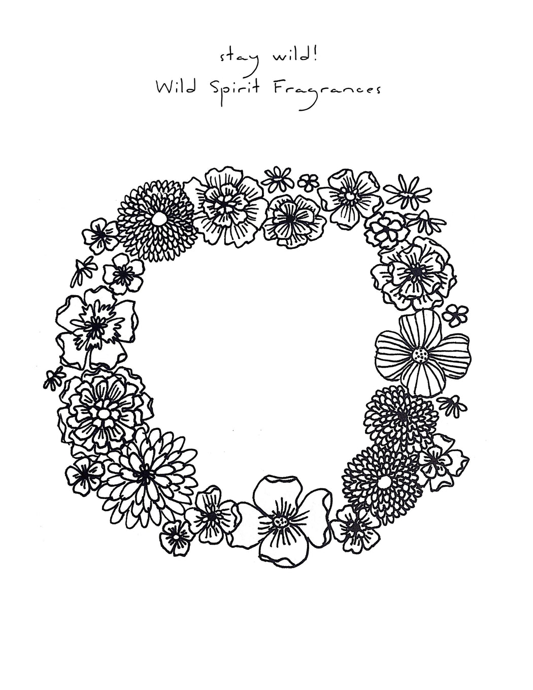 Who doesn't love a little coloring? Download, print, and color in this Wild Spirit, boho inspired coloring page. With beautiful flowers and endless color opportunities, find your zen and enjoy this coloring page from Wild Spirit Fragrances!