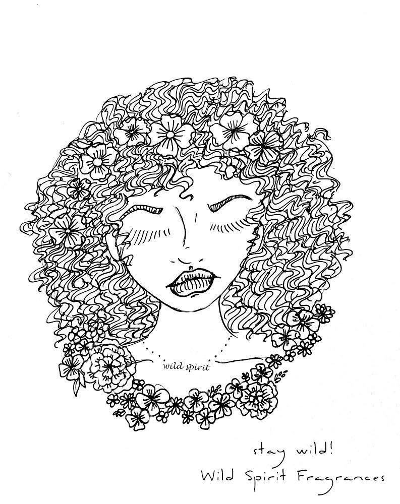 Coloring Page, Free Printable Instant Download, Boho Beauty - Wild Spirit