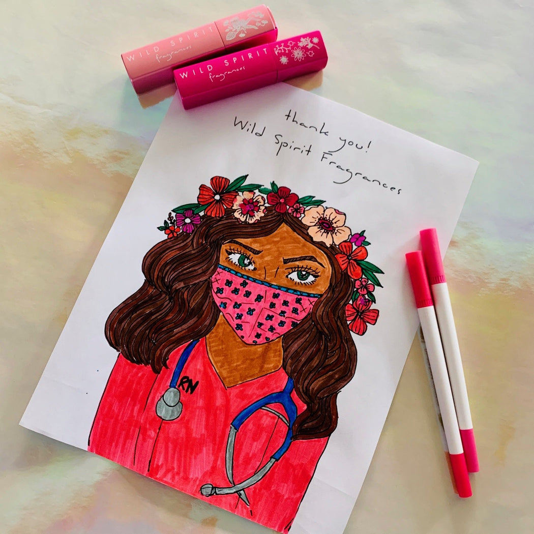 Coloring Page, Free Printable Instant Download, Thank You Healthcare Workers - Wild Spirit
