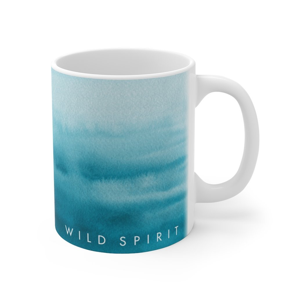 Driftwood Ceramic Coffee Mug 11 oz - Wild Spirit