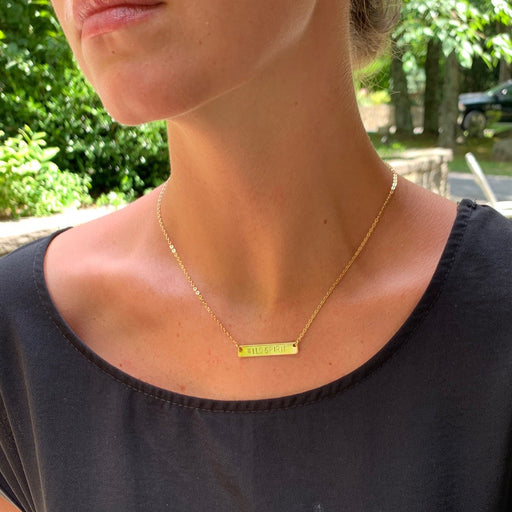 "Wild Spirit Hand Stamped Bar Necklace, 17"" PRE-ORDER NOW! - Wild Spirit"