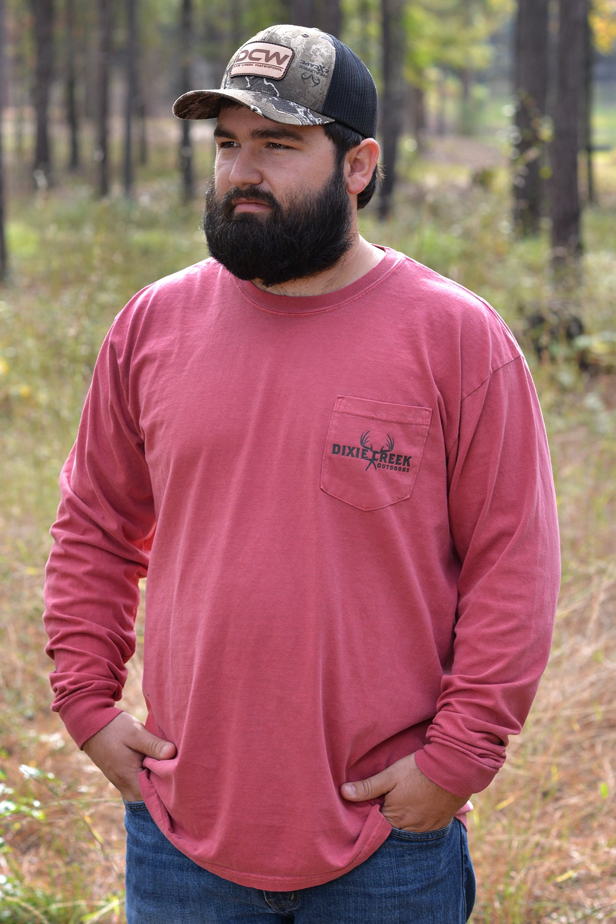 LS Comfort Colors Pocket Tee - Hunt Your Passion