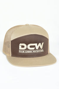 DCW - 7 Panel Trucker Hat - BROWN/KHAKI