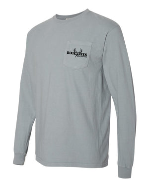 Morning Bugle - LS Comfort Colors Pocket Tee