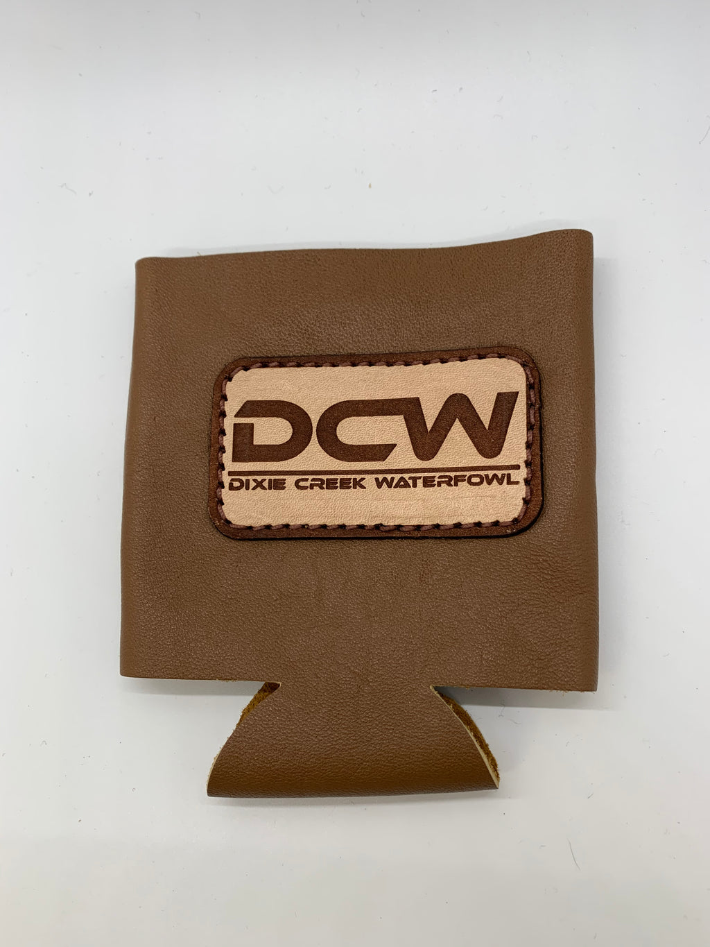 DCW Leather Patch Koozie