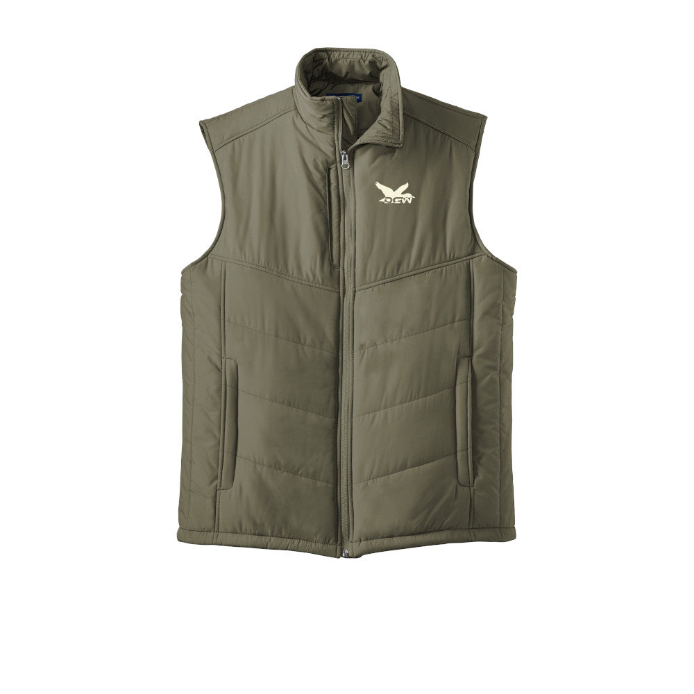 DCW Puffer Vest - Olive Green