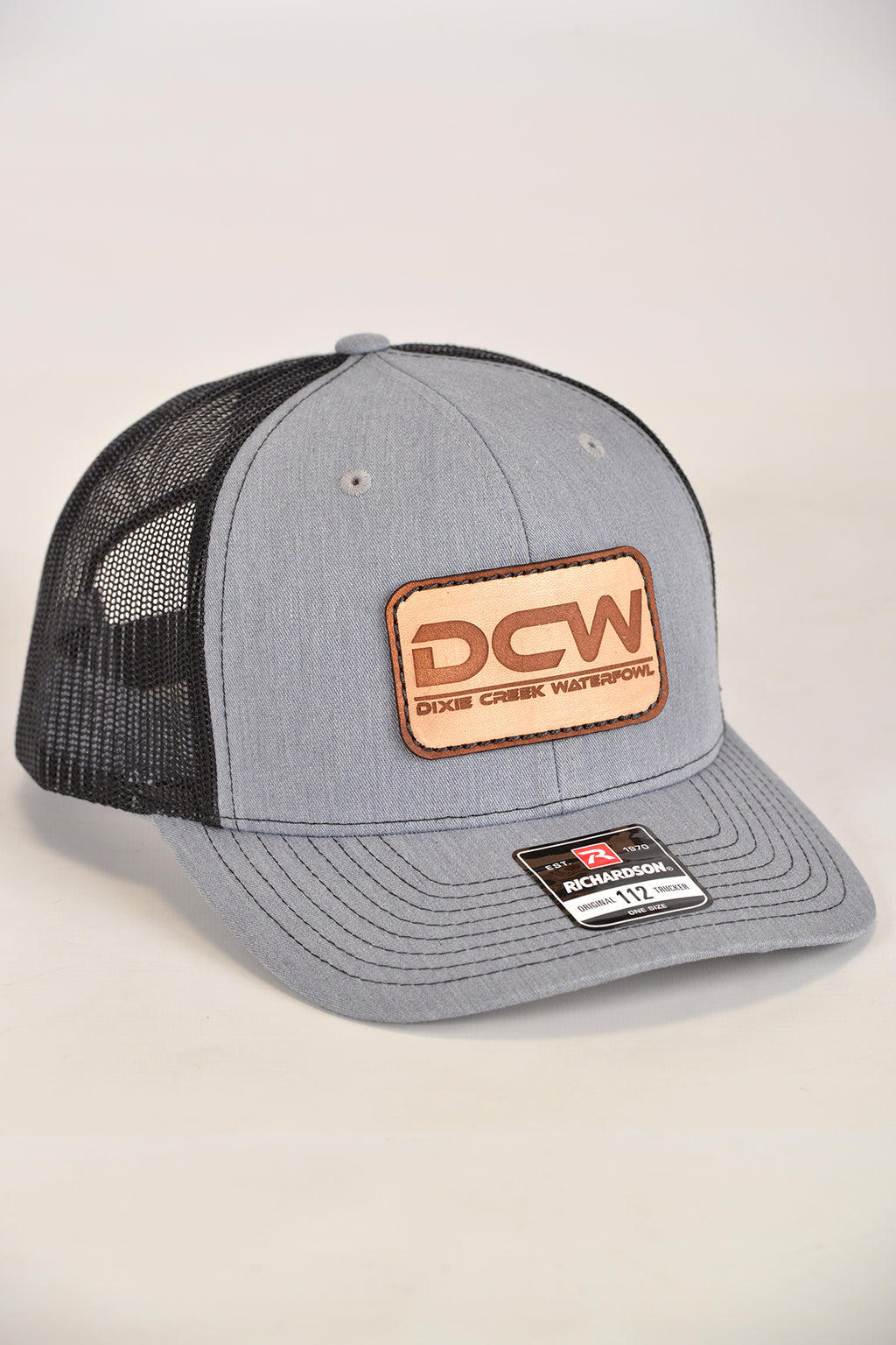 DCW With Leather Patch - HEATHER GREY/BLACK