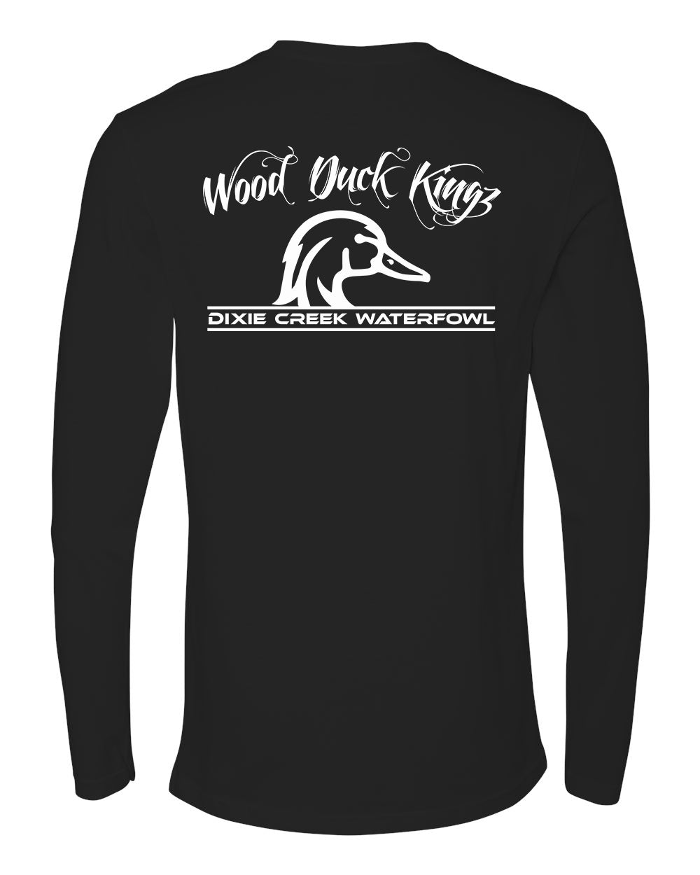 Wood Duck Kings - Long Sleeve White Print