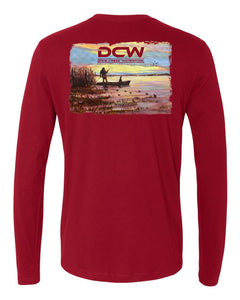 Sunset - Cardinal Red Long Sleeve