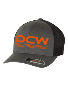 DCW Flexfit Hat - Orange Logo