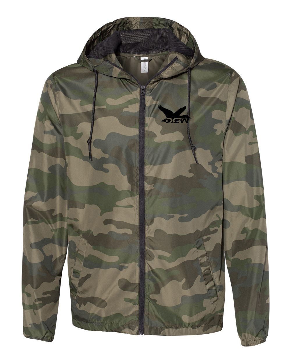 DCW Water-Resistant Windbreaker - Forest Camo