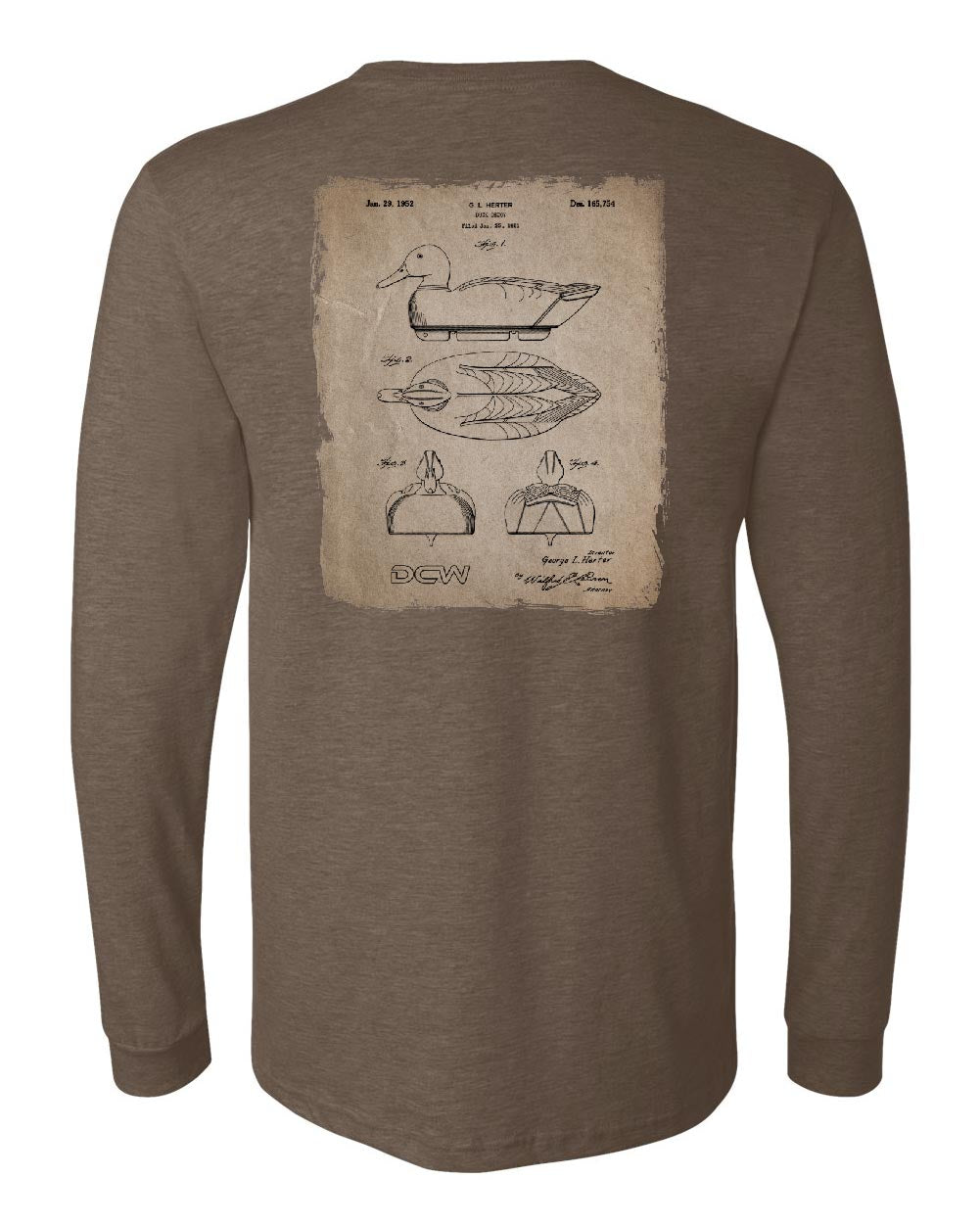 DCW Decoy - Heather Brown Long Sleeve