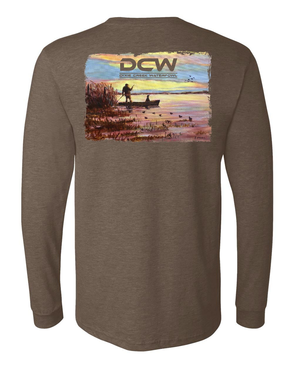 Sunset - Heather Brown Long Sleeve