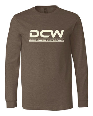 DCW Gun - Heather Brown Long Sleeve