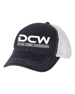DCW Richardson Unstructured Hat - White Logo