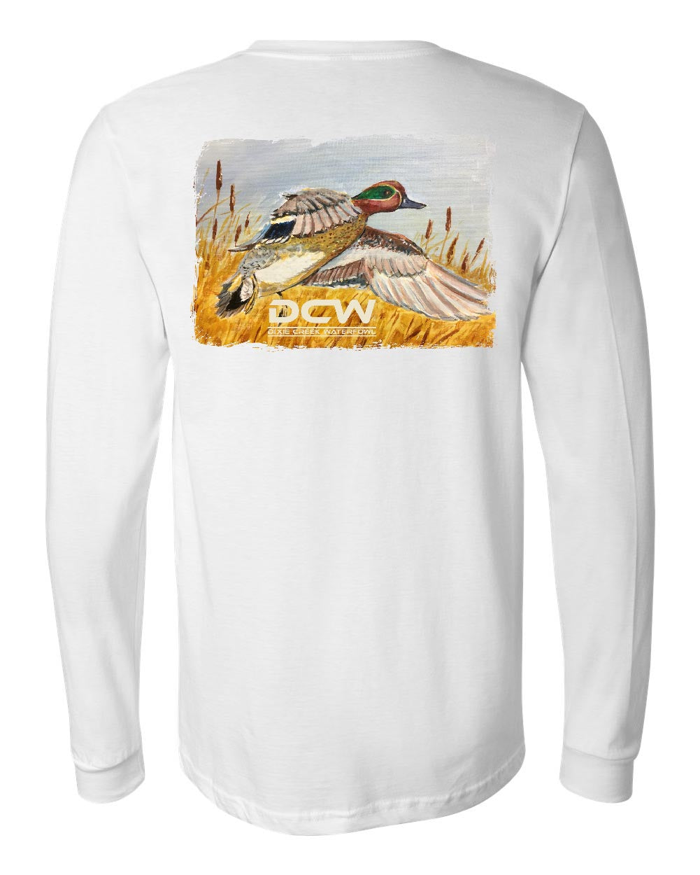 Green Wing Express - White Long Sleeve