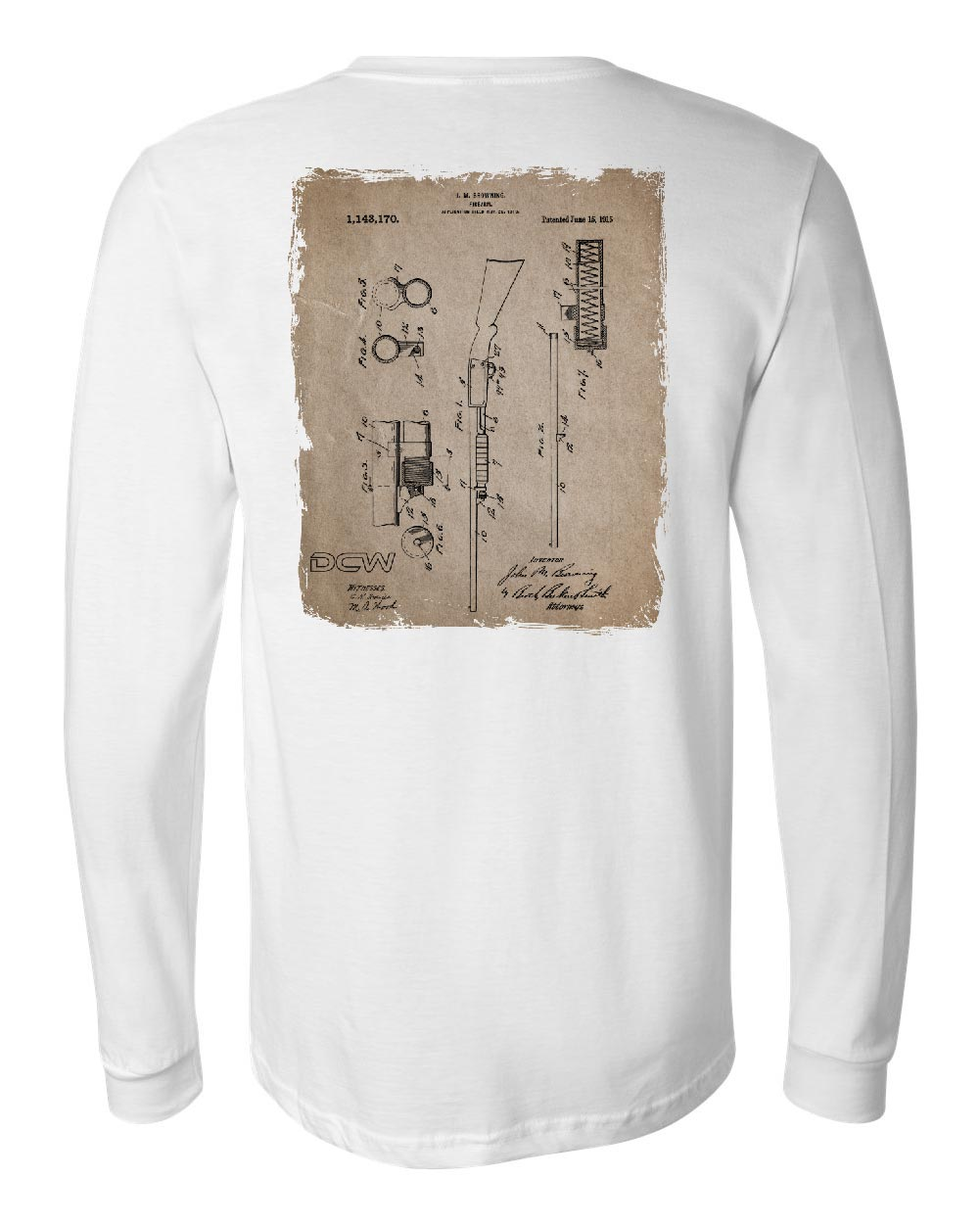 DCW Gun - White Long Sleeve
