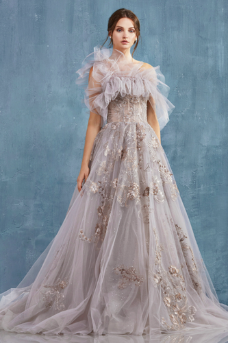 Tulle Ballgown with Embroidered Embellishments - Stage 9 Secrets - Dress