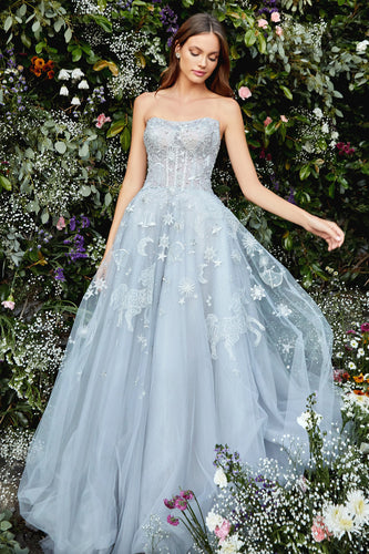 Silver Kaley Constellation Ball Gown