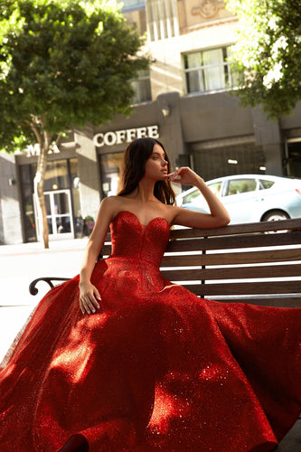 Red Sweetheart Ballgown