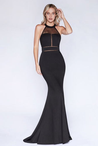 Black Halter Neck Illusion Cut Out Dress - Stage 9 Secrets - Dress