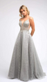 Silver Lace Ball Gown