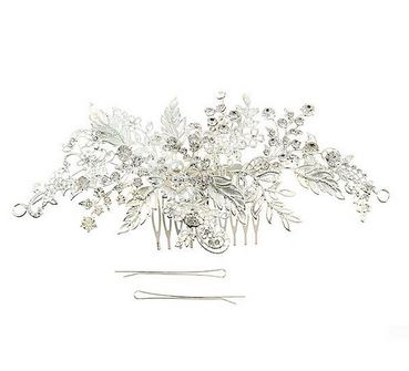 Silver Floral Vine Hair Piece - Stage 9 Secrets - Jewellery