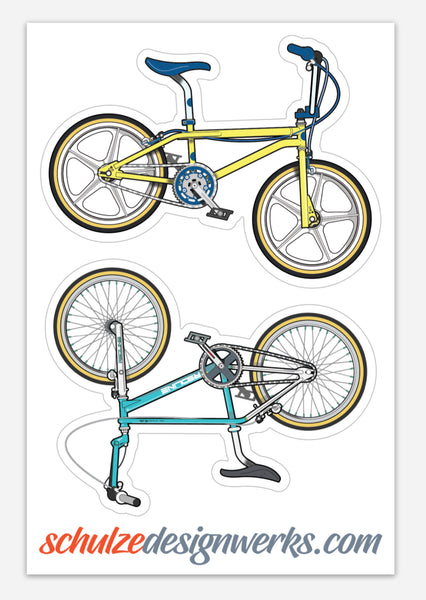 Classic BMX decals (2 sheets/4 decals)