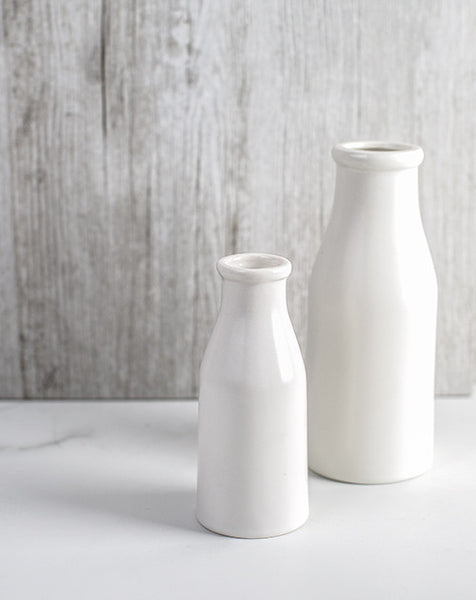 Trio of Small Milk Bottles