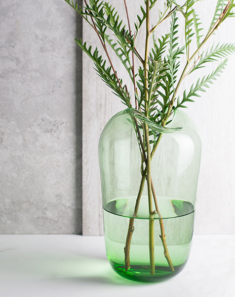 Large Bottle-Green Vase