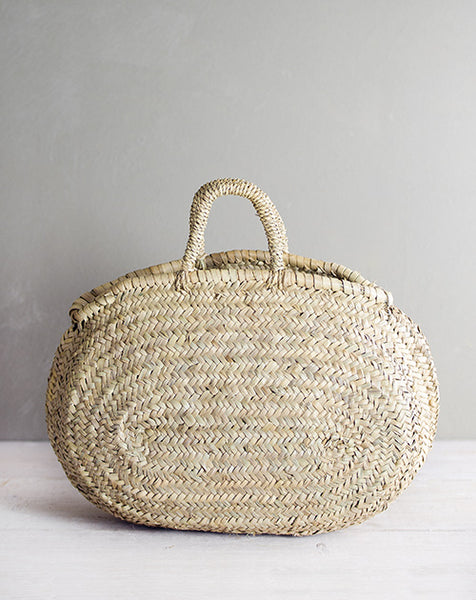 Woven Straw Flower Tote