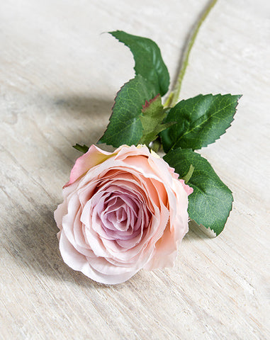 Antique Pink Faux Garden Rose