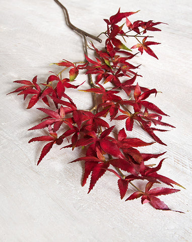 Red Faux Maple Leaf