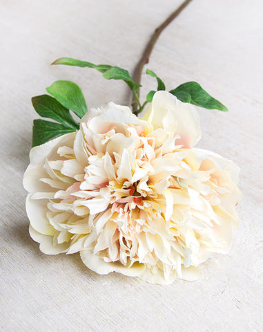 Full Bloom Pale Blush Faux Peony