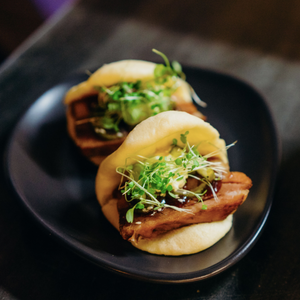 Roasted Pork Belly Steamed Buns