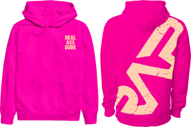 "RAP ""Real Ass Dude"" Hot Pink Hoodie"