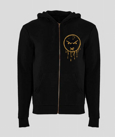 LOS Gold Embroidered Zip Up Hoodies